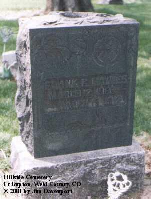 HAYNES, FRANK G. - Weld County, Colorado | FRANK G. HAYNES - Colorado Gravestone Photos