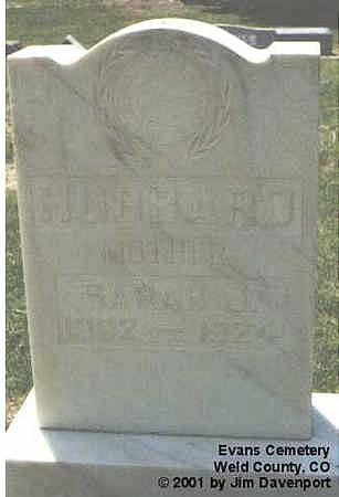 HUBBARD, SARAH J. - Weld County, Colorado   SARAH J. HUBBARD - Colorado Gravestone Photos