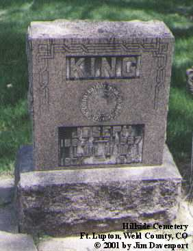 KING, JOSEPH - Weld County, Colorado | JOSEPH KING - Colorado Gravestone Photos