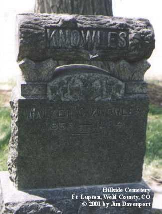 KNOWLES, WALTER C. - Weld County, Colorado | WALTER C. KNOWLES - Colorado Gravestone Photos