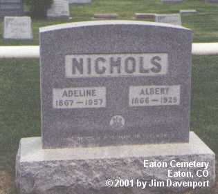 NICHOLS, ADELINE - Weld County, Colorado | ADELINE NICHOLS - Colorado Gravestone Photos