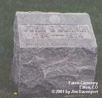 O'CONNOR, JOHN - Weld County, Colorado | JOHN O'CONNOR - Colorado Gravestone Photos