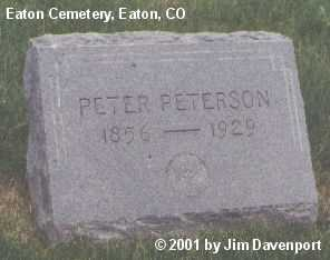 PETERSON, PETER - Weld County, Colorado | PETER PETERSON - Colorado Gravestone Photos
