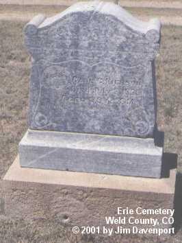 PIERSON, CARL G. - Weld County, Colorado | CARL G. PIERSON - Colorado Gravestone Photos
