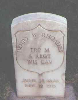 RHOADES, HENRY W. - Weld County, Colorado | HENRY W. RHOADES - Colorado Gravestone Photos