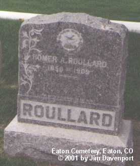 ROULLARD, HOMER A. - Weld County, Colorado | HOMER A. ROULLARD - Colorado Gravestone Photos