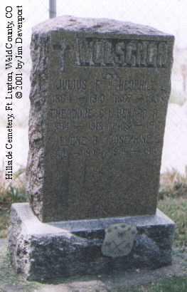 WOLSCHON, JULIUS F. - Weld County, Colorado | JULIUS F. WOLSCHON - Colorado Gravestone Photos