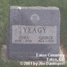 YEAGY, NORA - Weld County, Colorado | NORA YEAGY - Colorado Gravestone Photos