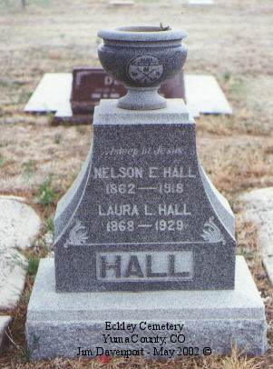HALL, NELSON E. - Yuma County, Colorado | NELSON E. HALL - Colorado Gravestone Photos