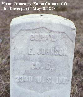 JOHNSON, W. E. - Yuma County, Colorado | W. E. JOHNSON - Colorado Gravestone Photos