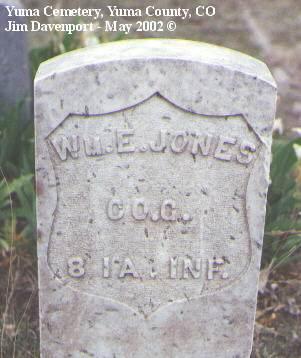 JONES, WM. E. - Yuma County, Colorado | WM. E. JONES - Colorado Gravestone Photos