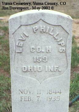 PHILLIPS, LEVI - Yuma County, Colorado | LEVI PHILLIPS - Colorado Gravestone Photos