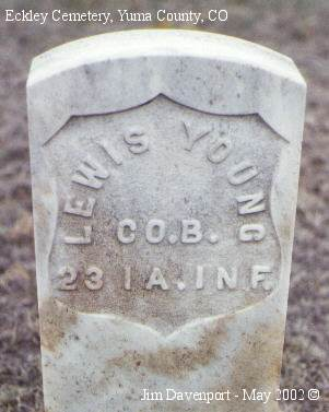 YOUNG, LEWIS - Yuma County, Colorado | LEWIS YOUNG - Colorado Gravestone Photos